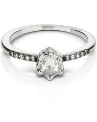 Maniamania - Entity Diamond Solitaire Ring - Lyst