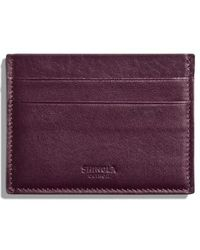 Shinola - Leather Card Case - Purple - Lyst