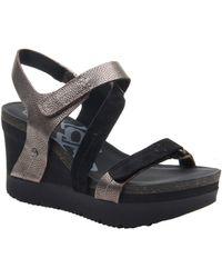 Otbt Wavey Wedge Sandal - Black