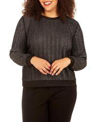 REBEL WILSON X ANGELS Glitter Knit Top - Black