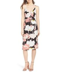 Cupcakes And Cashmere - Chayene Water Lilies Wrap Dress - Lyst