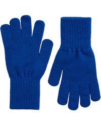 Trouvé Nordstrom Knit Gloves - Blue