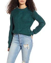 BP. Cable Knit Sweater - Green