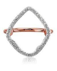 Monica Vinader   Large Riva Hoop Diamond Ring   Lyst