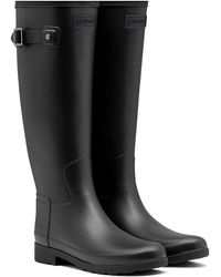 HUNTER Original Refined Waterproof Rain Boot - Black