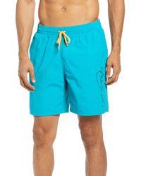 Nike Just Do It Swoosh Volley Swim Trunks - Blue
