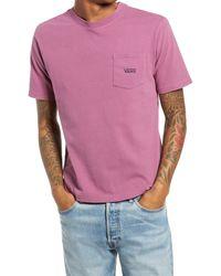 Vans Short Sleeve Pocket T-shirt - Pink