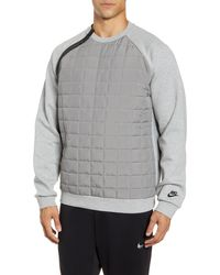 Nike Tech Pack Quilted Crew Sweat - Gray