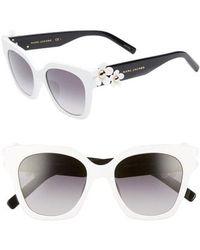 Marc Jacobs - 52mm Daisy Cat Eye Sunglasses - - Lyst
