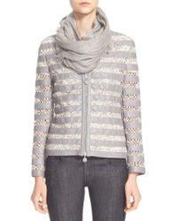 Armani - Macrame & Lambskin Leather Jacket - Lyst