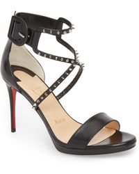 74b6a0c0d9ac Lyst - Christian Louboutin Miziggoo Spiked 120mm Red Sole Sandal in ...