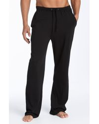 Daniel Buchler Peruvian Pima Lightweight Cotton Lounge Pants - Black