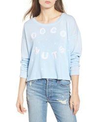 Sundry - Coco Nuts Light Fleece Sweatshirt - Lyst