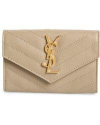Saint Laurent 'monogram' Quilted Leather French Wallet - Multicolour