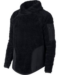 Nike - Fleece Mock Neck Top - Lyst