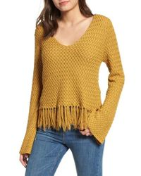 Somedays Lovin - On The Fly Fringe Trim Cotton Sweater - Lyst