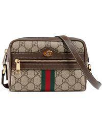 0feed27e37ce Gucci - Ophidia Gg Supreme Mini Bag Beige - Lyst