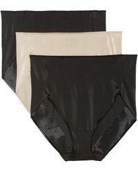 Tc Fine Intimates - 3-pack High Waist Briefs, Black - Lyst