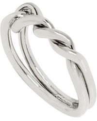 AllSaints Knot Twist Ring - Metallic