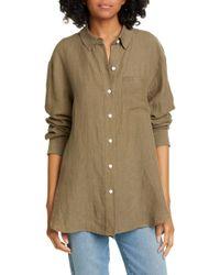 Jenni Kayne Linen Boyfriend Shirt - Multicolour