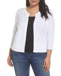 Sejour - Easy Cropped Cardigan - Lyst