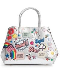 Anya Hindmarch - Ebury Embossed Sticker Metallic Leather Tote - - Lyst