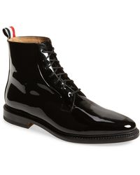 Thom Browne Blucher Lace-up Bootie - Black