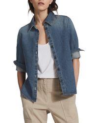 Reiss Denim Button-up Shirt - Blue