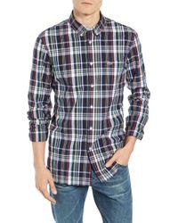 Lacoste - Slim Fit Plaid Sport Shirt - Lyst