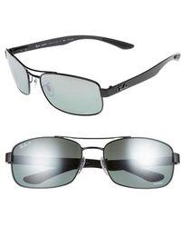 610e5dcba70 Ray-Ban - Chromance 62mm Polarized Sunglasses - Shiny Black - Lyst