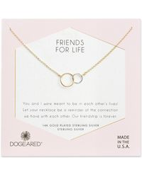 Dogeared - Friends For Life Necklace - Lyst