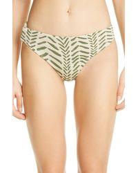 Johanna Ortiz Print Bikini Bottoms - Green