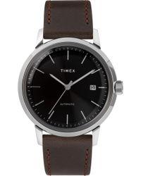 Timex - Timex Marlin Automatic Leather Strap Watch - Lyst