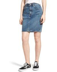 Levi's - Levi's Mom Bow Back Denim Skirt - Lyst