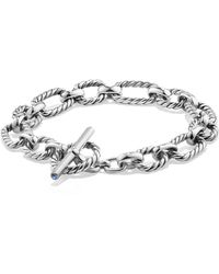 David Yurman - Cushion Link Chain Bracelet - Lyst