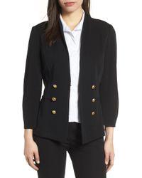 Ming Wang - Button Detail Knit Jacket - Lyst