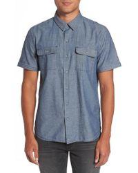 PAIGE - Flynn Lightweight Denim Shirt - Lyst