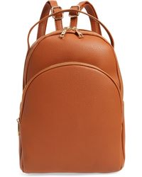 BP. Mini Faux Leather Backpack - Brown