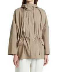 Max Mara Water Resistant Packable Hooded Jacket, Beige - Natural