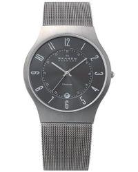 Skagen - 'grenen' Titanium Case Watch - Lyst