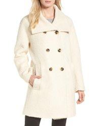 London Fog - Cozy Wool Blend Coat - Lyst