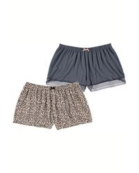 Flora Nikrooz Assorted 2-pack Lounge Shorts, Gray