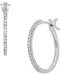 CARRIERE JEWELRY - Carriere Bypass Diamond Hoop Earrings (nordstrom Exclusive) - Lyst