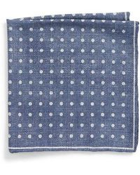 Canali - Dot Silk Pocket Square - Lyst