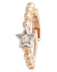 Kismet by Milka - Single Diamond Star Beaded Hoop Earring - Lyst