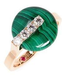 Roberto Coin - Jade Diamond Ring - Lyst