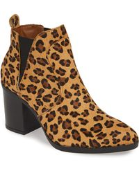 33a5311d477 Lucky Brand Jakobie Calf Hair Ankle Boots in Brown - Lyst