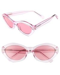 Quay - 54mm As If Oval Sunglasses - Lyst