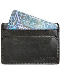 Boconi Collins Calfskin Id Card Case - Black