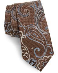 Nordstrom Bryce Paisley Silk Tie - Brown
